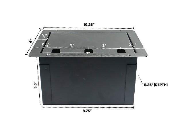 Elite Core Fbl6 Ac Recessed Stage Audio Floor Box W 6 Xlr