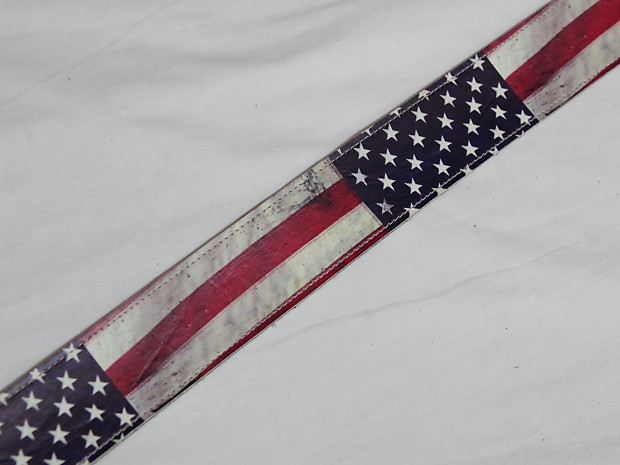 perri 39 s usa flag guitar strap distressed look vinyl reverb. Black Bedroom Furniture Sets. Home Design Ideas