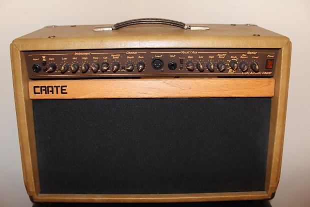 crate ca60d 2 channel acoustic guitar amplifier amp reverb. Black Bedroom Furniture Sets. Home Design Ideas
