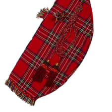 Roosebeck Bagpipe Cover & Cords + Tassels Red Tartan image