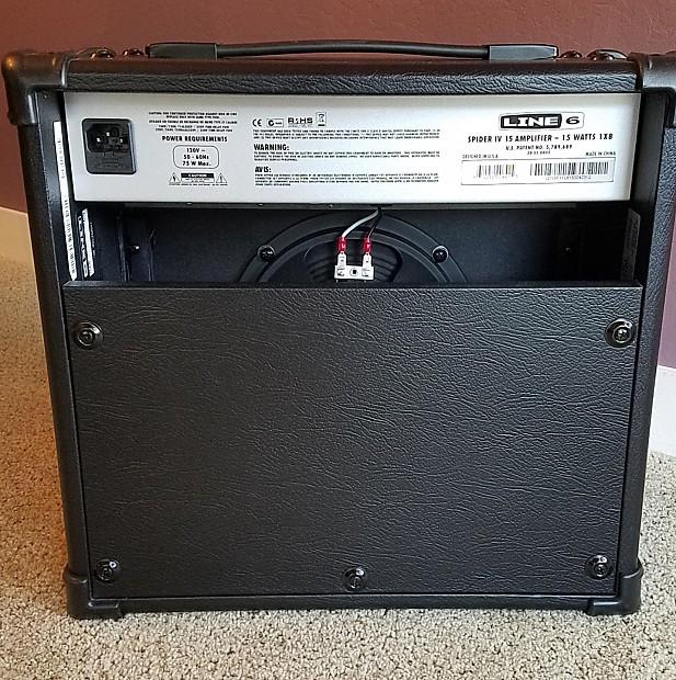 line 6 spider iv 15 combo amp with cover reverb. Black Bedroom Furniture Sets. Home Design Ideas