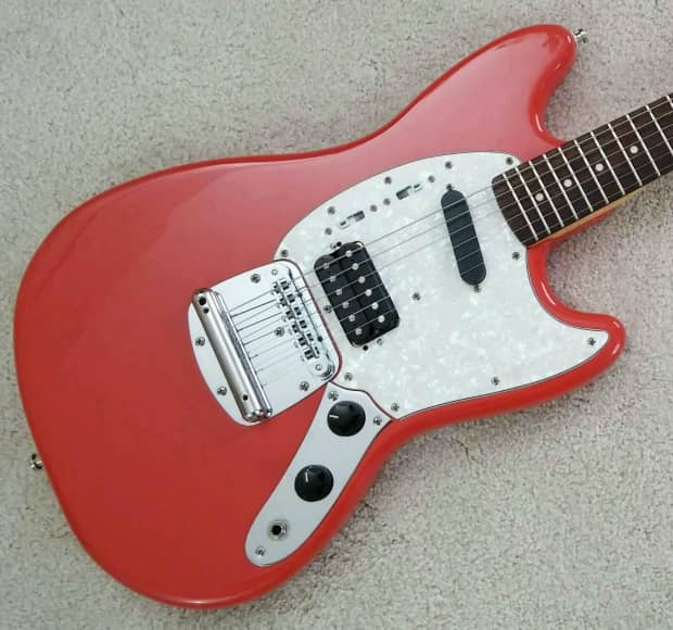 Squier Fender Quot Kurt Cobain Quot Mustang Fiesta Red