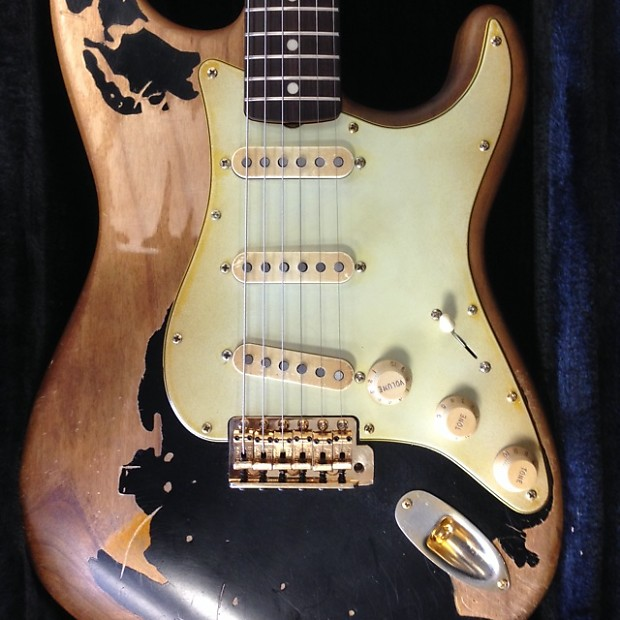 john mayer stratocaster relic the black one see video reverb. Black Bedroom Furniture Sets. Home Design Ideas