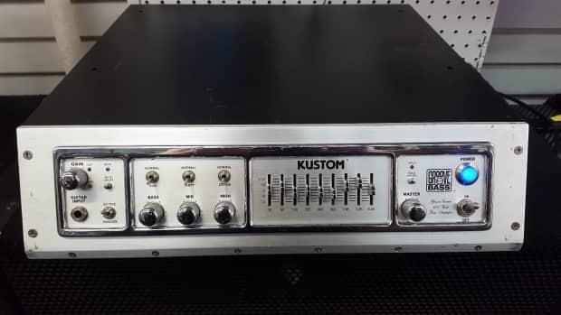 Kustom groove bass amp 600 specs vintage