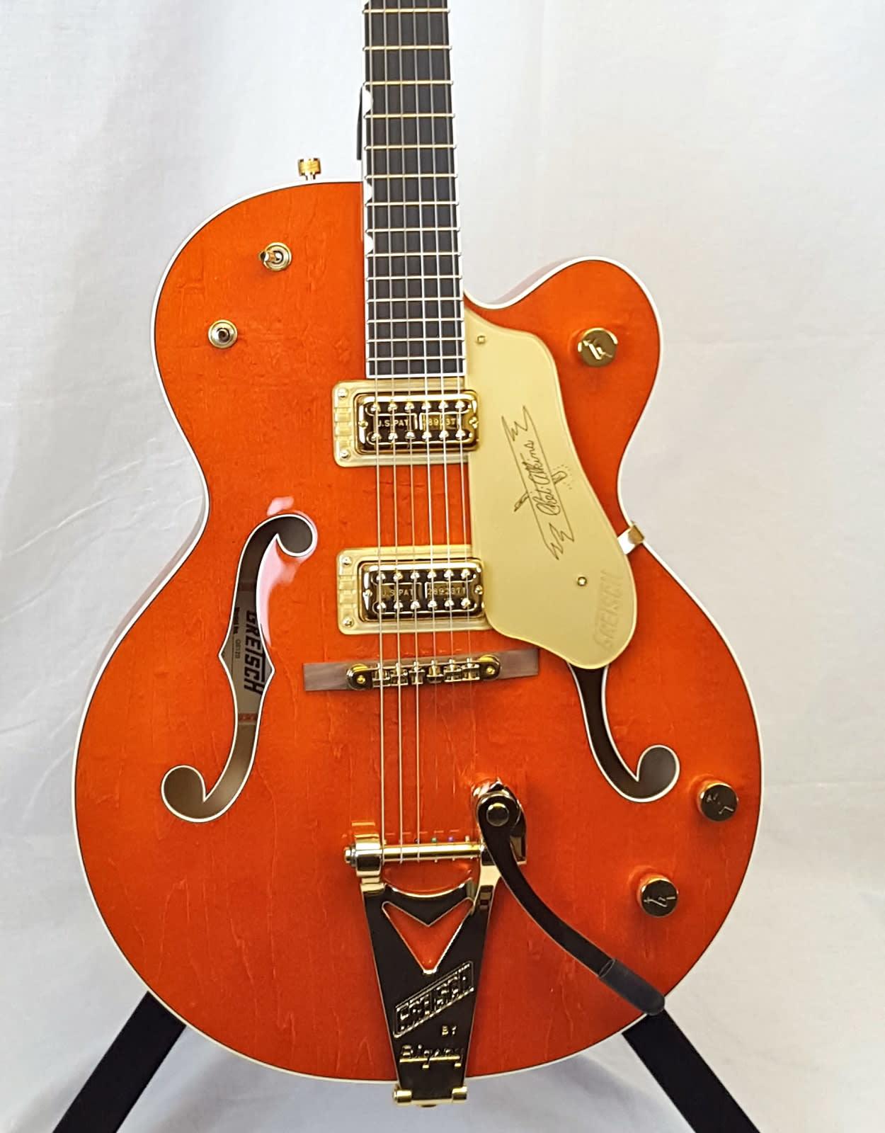 Gretsch G6120 Chet Atkins Hollow Body, Ebony Fingerboard - Orange Stain