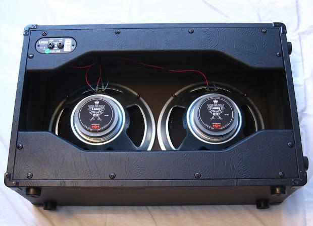 laney cub cab 2x12 open back guitar speaker cabinet black reverb. Black Bedroom Furniture Sets. Home Design Ideas