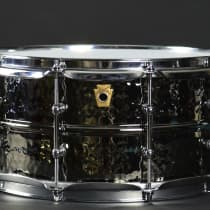Ludwig 6.5x14 Black Beauty Hammered Brass Snare Drum 2010s image
