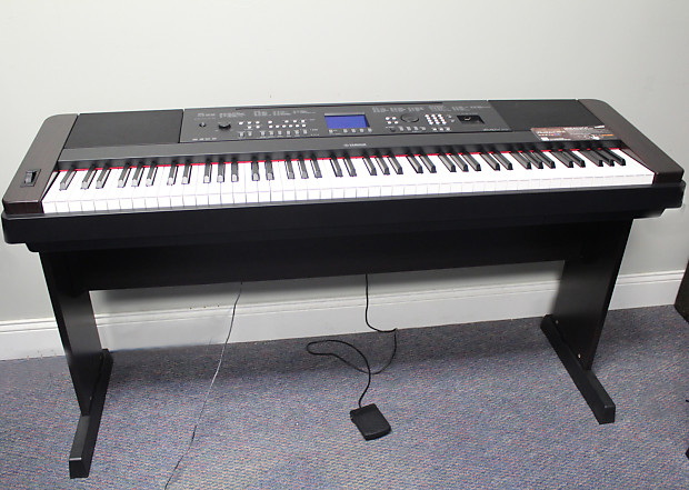 Yamaha 88 key portable grand piano keyboard weighted dgx for Yamaha dgx 660 manual