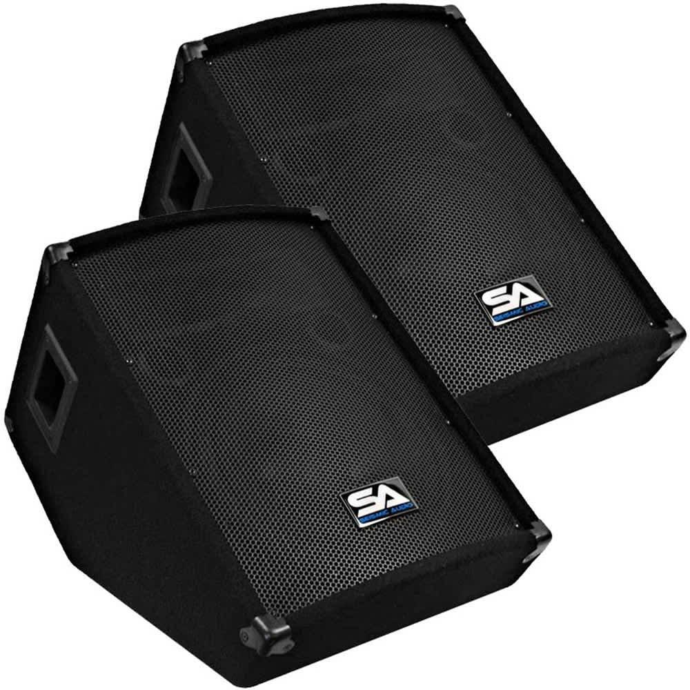 2 new seismic audio 12 floor monitors pa dj speakers reverb for 12 floor speakers