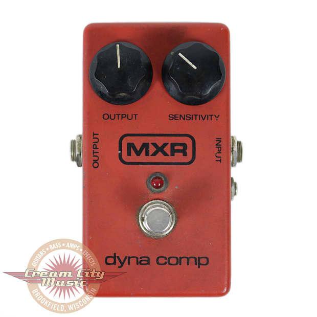 vintage mxr block logo dyna comp compressor guitar effects