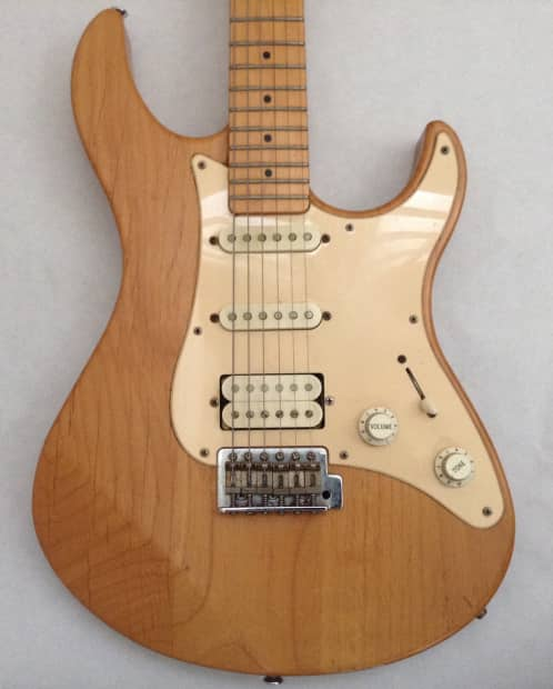 yamaha pacifica 112m electric guitar rare natural finish