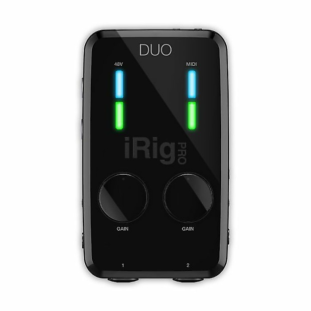 ik multimedia irig pro duo highly portable universal. Black Bedroom Furniture Sets. Home Design Ideas