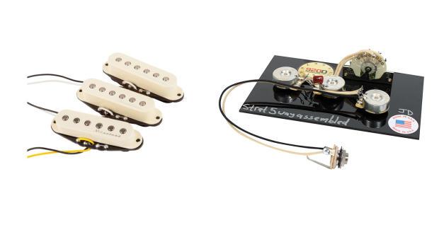 fender hot noiseless stratocaster guitar pickup set w free wiring harness reverb. Black Bedroom Furniture Sets. Home Design Ideas