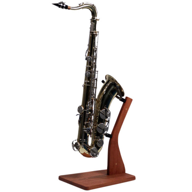 so there wooden saxophone stand handcrafted solid mahogany wood floor stands for alto tenor. Black Bedroom Furniture Sets. Home Design Ideas