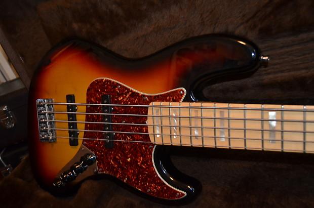 fender custom shop 5 string jazz bass 2009 sunburst reverb. Black Bedroom Furniture Sets. Home Design Ideas