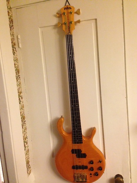 pedulla mvp buzz bass 4 string fretless 1986 amber reverb. Black Bedroom Furniture Sets. Home Design Ideas