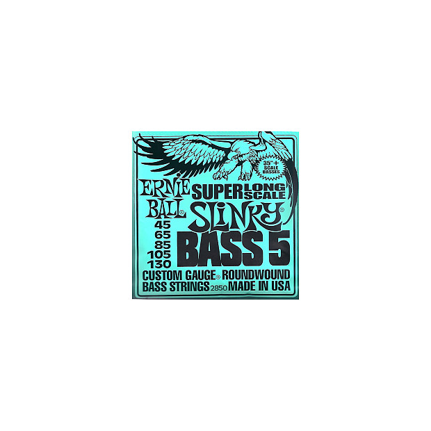 ernie ball 2850 5 string slinky super long scale bass strings reverb. Black Bedroom Furniture Sets. Home Design Ideas