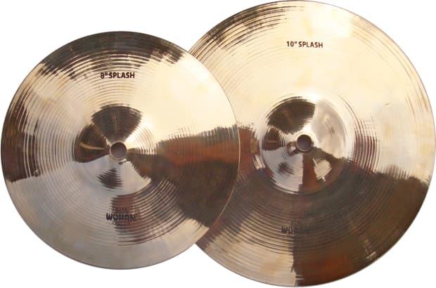 wuhan 8 10 splash cymbal set 2 cymbals reverb. Black Bedroom Furniture Sets. Home Design Ideas