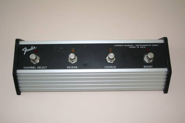 Fender Twin Guitar Amp 4 Button Foot Switch With Channel