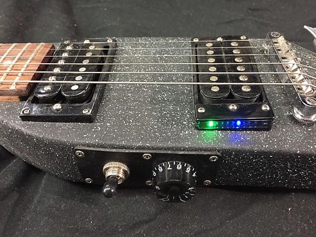 custom made electric travel guitar w built in tuner reverb. Black Bedroom Furniture Sets. Home Design Ideas