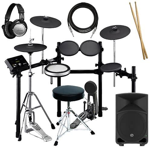 Yamaha dtx532k electronic drum set complete drum bundle for Yamaha portable drums