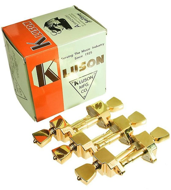 Kluson guitar tuners on a strip entertaining