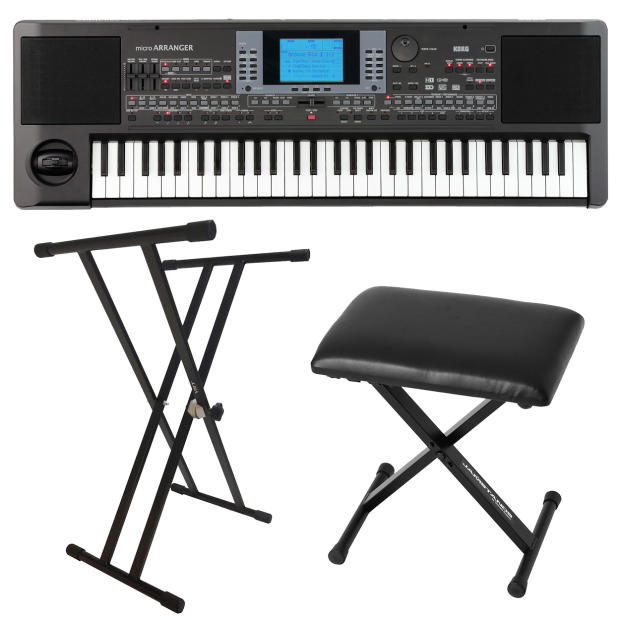 Korg microarranger keyboard with stand and bench reverb Keyboard stand and bench