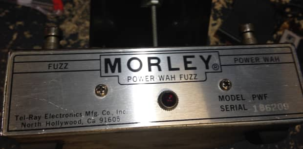 morley power wah fuzz pedal tel ray reverb. Black Bedroom Furniture Sets. Home Design Ideas
