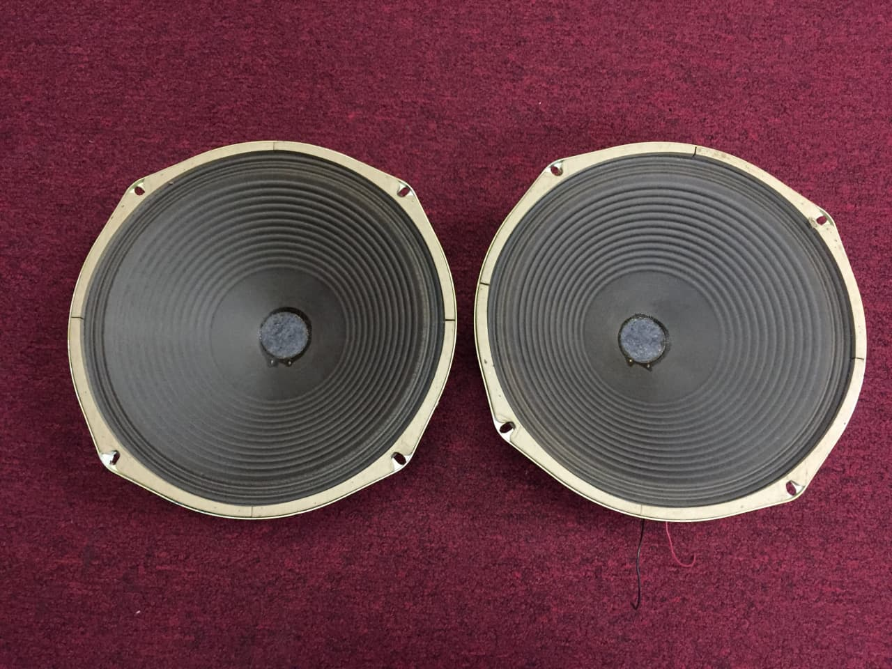 Speaker Ohm Matching To Amp : Pair of magnavox quot alnico ohm speakers s tested