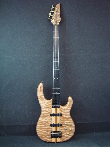 carvin fretless 4 string electric bass guitar natural finish reverb. Black Bedroom Furniture Sets. Home Design Ideas