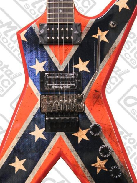 dean dimebag dixie rebel electric guitar with case floyd rose bridge dxr reverb. Black Bedroom Furniture Sets. Home Design Ideas