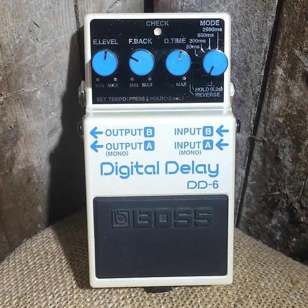 boss dd 6 digital delay pedal with box reverb. Black Bedroom Furniture Sets. Home Design Ideas