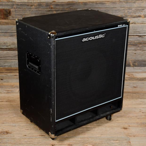 acoustic 1x15 bass speaker cabinet used reverb. Black Bedroom Furniture Sets. Home Design Ideas