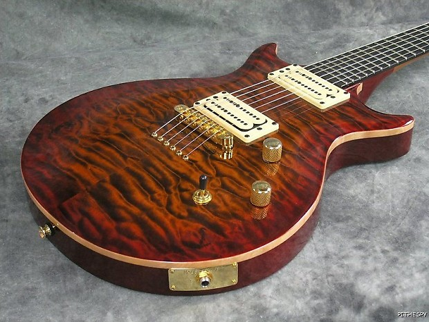 Carvin kiesel dc string quilted maple cherryburst solid