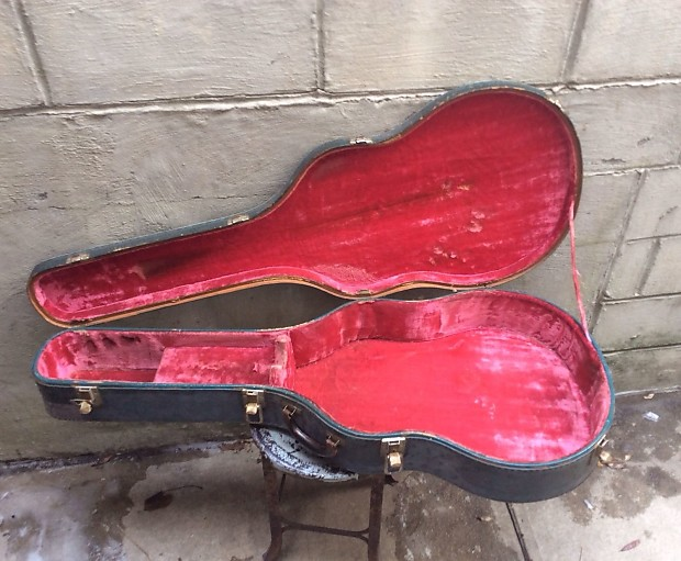 1950 39 S Gibson J 200 Acoustic Hard Shell Case Lifton Pink Interior 17