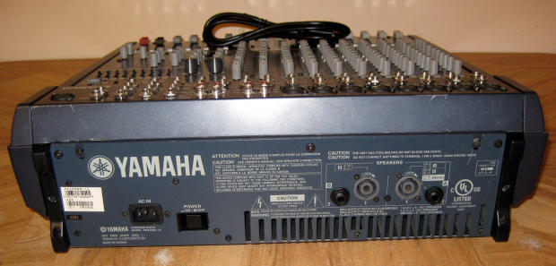 Yamaha emx5000 12 powered mixer 2 x 500w stereo amps reverb for Yamaha power amp mixer