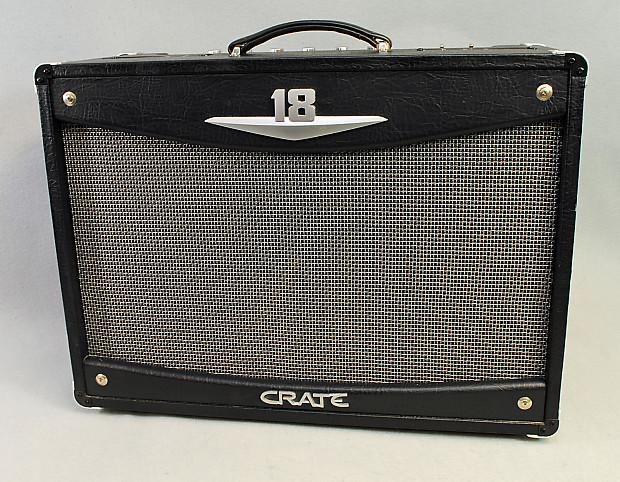 crate v18 black tolex 1x12 18 watt class a el84 electric reverb. Black Bedroom Furniture Sets. Home Design Ideas
