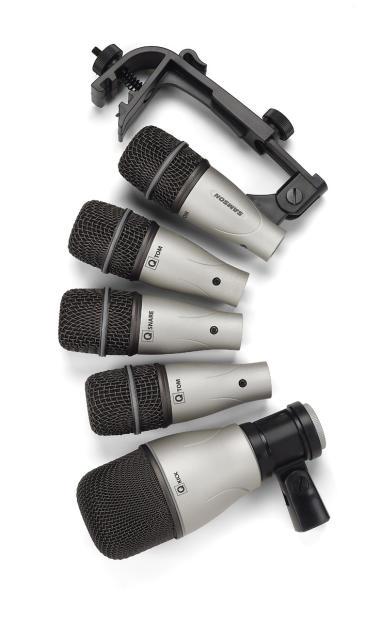 samson 5kit drum mic kit with 3 q tom q kick q snare sadk5 reverb. Black Bedroom Furniture Sets. Home Design Ideas