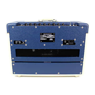 vox limited edition two tone ac15 combo amp blue cream reverb. Black Bedroom Furniture Sets. Home Design Ideas