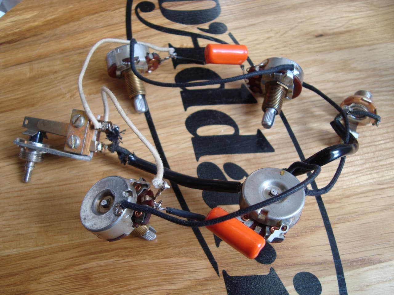 Gibson sg les wiring harness vintage reverb