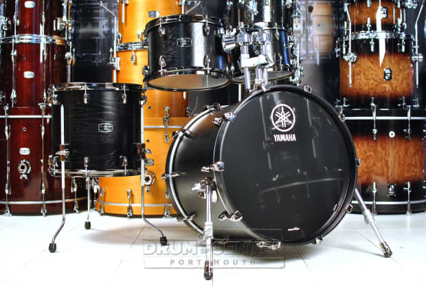 Yamaha B Stock Live Custom 4pc Drum Set Black Wood Reverb