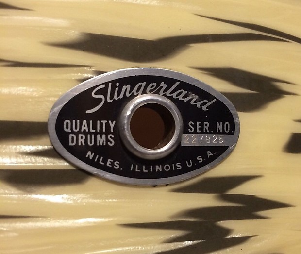 Rare vintage slingerland 14 floor tom drum white for 14 floor tom for sale