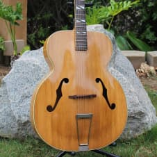 """Stunning and RARE Vintage 1949 Silvertone 682 Aristocrat 17"""" Jumbo Archtop Acoustic Guitar Kay Blond image"""