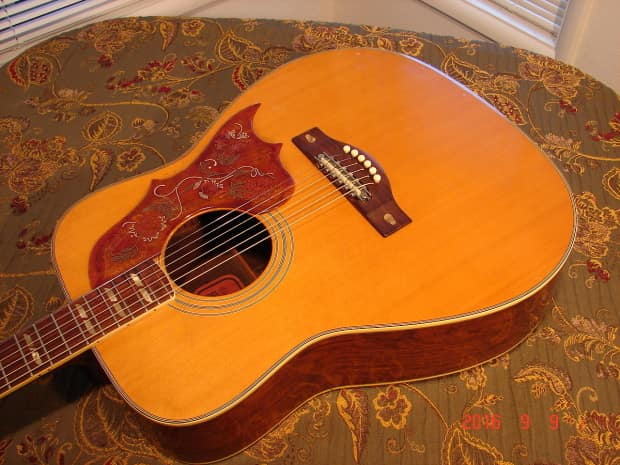 Rare vintage red label japan yamaha fg300 dreadnought reverb for Yamaha fgx720sca price