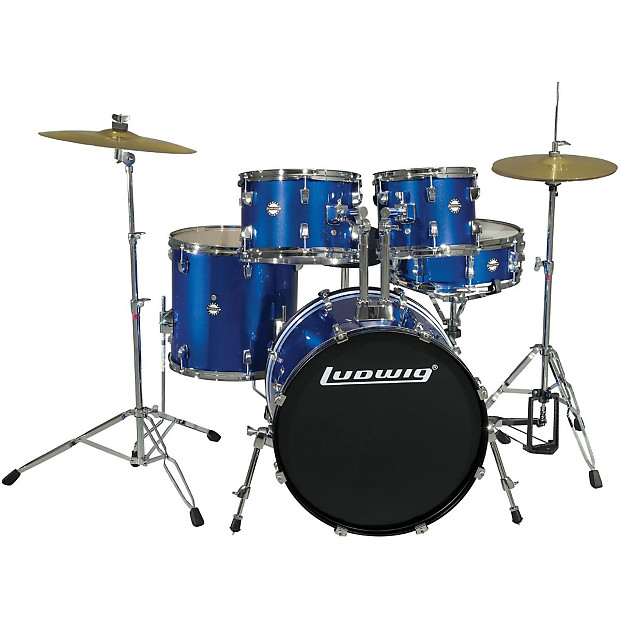 new ludwig lc170 accent fuse 5 piece complete drum set w reverb. Black Bedroom Furniture Sets. Home Design Ideas