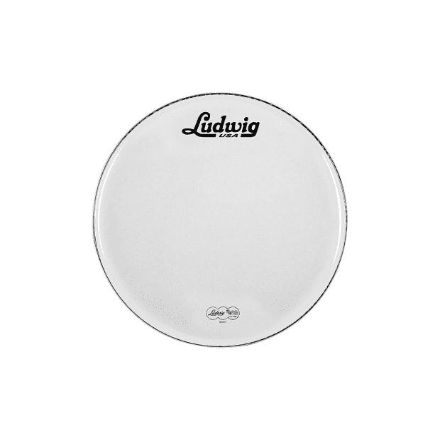 ludwig 22 inch bass drum head white vintage logo reverb. Black Bedroom Furniture Sets. Home Design Ideas