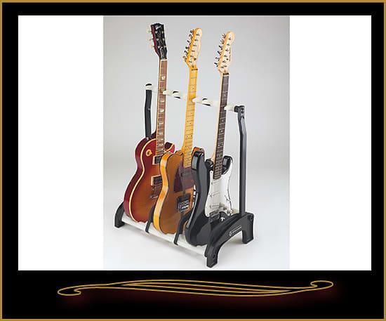 k m 17513 guardian three guitar stand white reverb. Black Bedroom Furniture Sets. Home Design Ideas