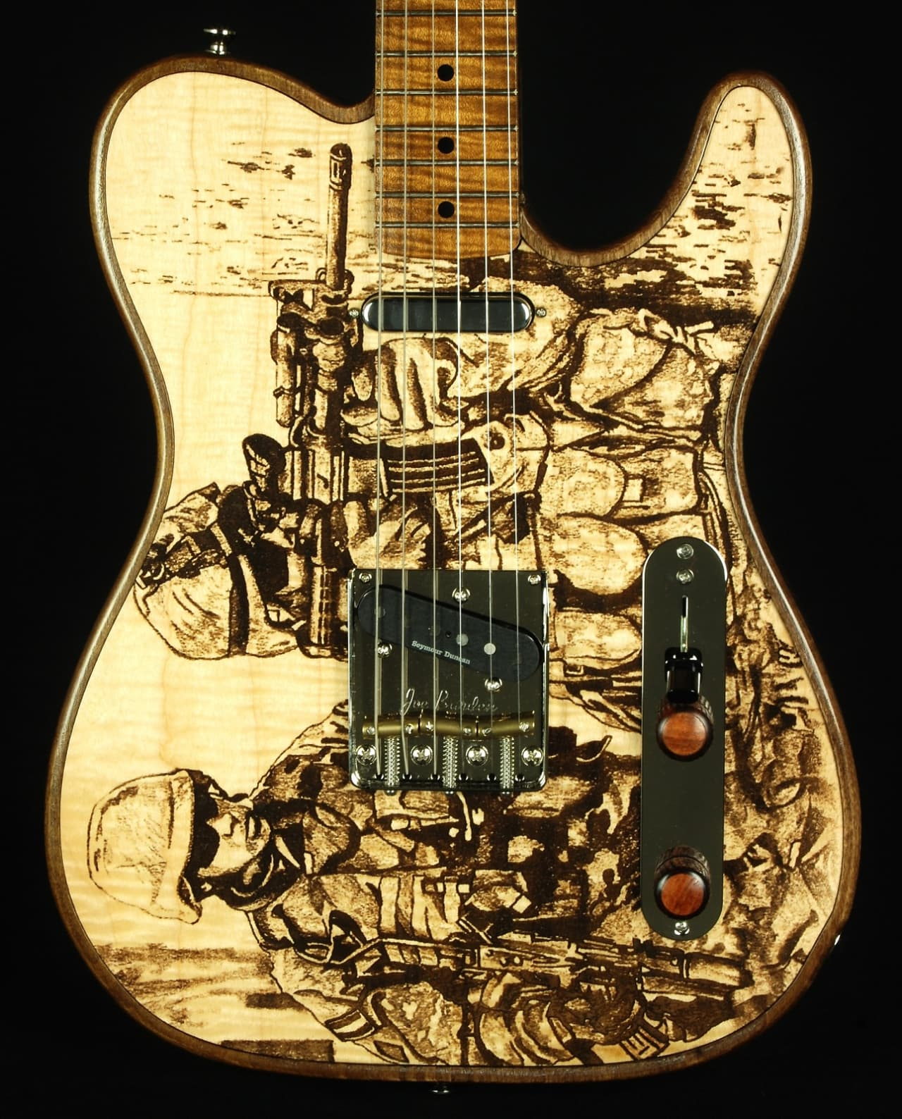 new walla walla guitar company t top laser soldiers custom reverb. Black Bedroom Furniture Sets. Home Design Ideas