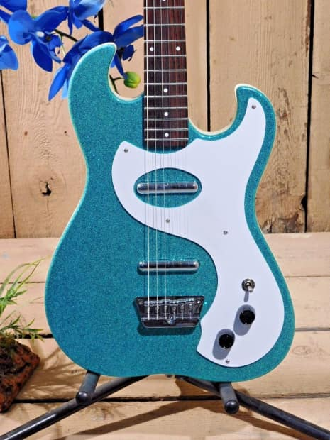 danelectro 39 63 reissue electric guitar turquoise metal flake reverb. Black Bedroom Furniture Sets. Home Design Ideas