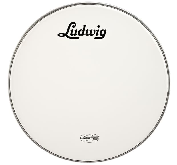 ludwig 20 inch bass drum head smooth white vintage logo reverb. Black Bedroom Furniture Sets. Home Design Ideas